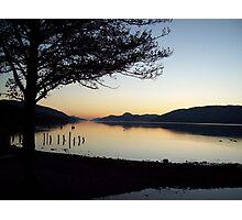 Winter sunset over Loch Ness Photographic Print