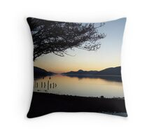 Winter sunset over Loch Ness Throw Pillow