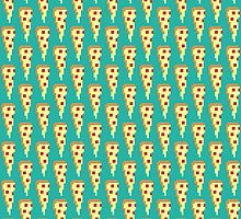 PIZZA PIXEL PATTERN by Brandon Wilhelm