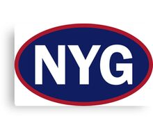 New York - NYG - football - oval sticker and more Canvas Print