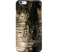 Weeping Willow Silhouette by Water iPhone Case/Skin