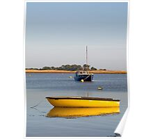 Boats at Wells Harbour Poster