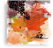 42 - The Meaning of Life Canvas Print