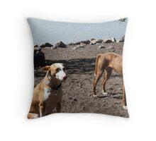 Spanish podencos Otto & Ebba Throw Pillow