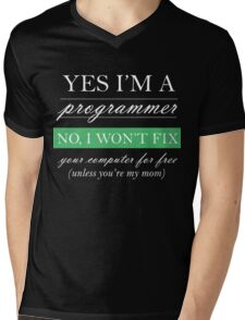 Yes I'm a programmer - white Mens V-Neck T-Shirt