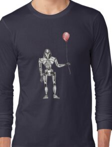 Cylon Centurion with Red Balloon Long Sleeve T-Shirt