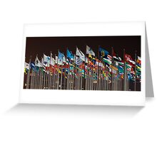 Flags, loads of them:) Greeting Card