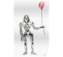 Cylon Centurion with Red Balloon Poster