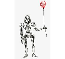 Cylon Centurion with Red Balloon Photographic Print