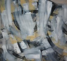 Charcoal and Acrylic Abstraction 2 by Josh Bowe