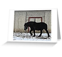 Winter Draft Greeting Card