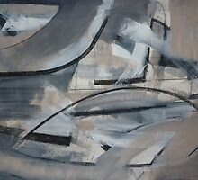 Charcoal and Acrylic Abstraction 3 by Josh Bowe