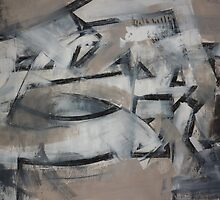 Charcoal and Acrylic Abstraction 4 by Josh Bowe
