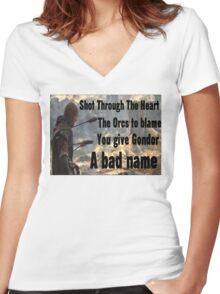 boromir Women's Fitted V-Neck T-Shirt