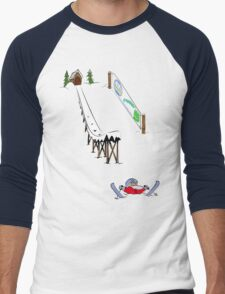 usa california skiier tshirt by rogers bros Men's Baseball ¾ T-Shirt