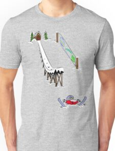 usa california skiier tshirt by rogers bros Unisex T-Shirt