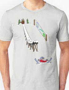 usa california skiier tshirt by rogers bros T-Shirt