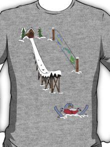 usa california ski tshirt by rogers bros T-Shirt