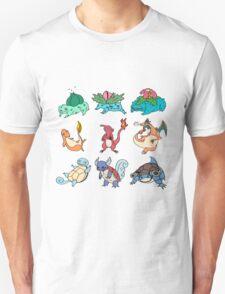 Kanto Starters All T-Shirt