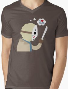 I Love Camp Mens V-Neck T-Shirt