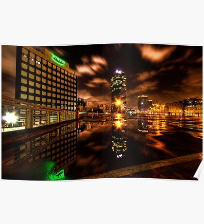 Urban landscape reflection  Poster