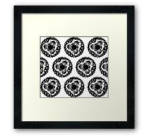 Small World Pattern Framed Print