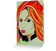 The Orange Turban Greeting Card