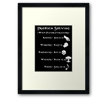 Problem Solving with Player Characters Framed Print