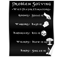 Problem Solving with Player Characters Poster