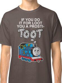 Prosti-TOOT! White Text Classic T-Shirt