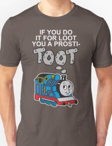 Prosti-TOOT! White Text T-Shirt