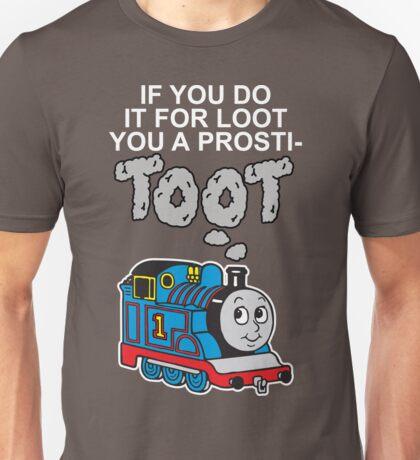 Prosti-TOOT! White Text Unisex T-Shirt