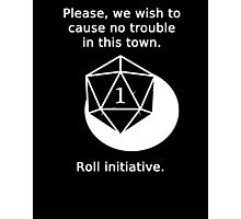 D20 Critical failure - Persuasion Photographic Print