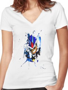 "Viewtifuldrew ""Ink."" Women's Fitted V-Neck T-Shirt"