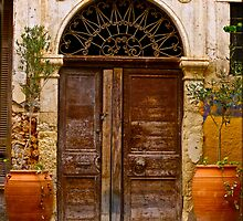Doors - Chania - Crete - Greece. by Brown Sugar . F* . Views  1446.  This image Has Been S O L D . by © Andrzej Goszcz,M.D. Ph.D
