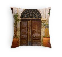 Doors - Chania - Crete - Greece. by Brown Sugar . F* . Views  1446.  This image Has Been S O L D . Throw Pillow