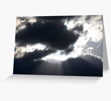 Late Autumn Clouds Greeting Card