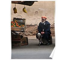 Fruit seller - Marrakech Poster