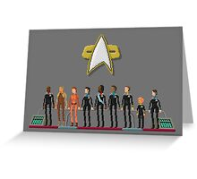Star Trek: Deep Space Nine - Pixelart Crew Greeting Card