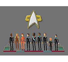 Star Trek: Deep Space Nine - Pixelart Crew Photographic Print