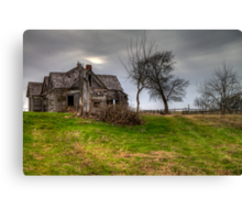 Ghostly Abode on a Country Road Canvas Print