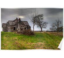 Ghostly Abode on a Country Road Poster