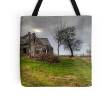 Ghostly Abode on a Country Road Tote Bag
