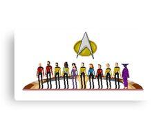 Star Trek: The Next Generation - Pixelart Crew Canvas Print