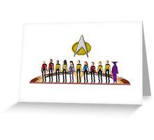 Star Trek: The Next Generation - Pixelart Crew Greeting Card