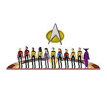 Star Trek: The Next Generation - Pixelart Crew Photographic Print