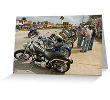 Bikes and bikers Greeting Card
