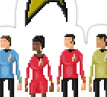 Star Trek: The Original Series - Pixelart crew Sticker