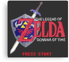 The Legend of Zelda: Ocarina of Time Canvas Print