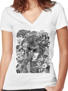 Hatter's Tea Party Women's Fitted V-Neck T-Shirt